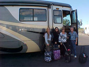 RV loans from Low RV Financing RV financing can make you as happy as this family standing in front of the motorhome purchased through funds received by Low RV Financing